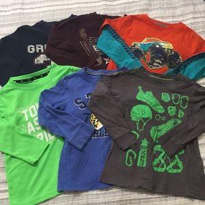 6 Boys Long Sleeve T-shirts